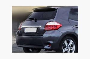 Накладка над номером (нерж) - Toyota Auris 2007-2012 гг.
