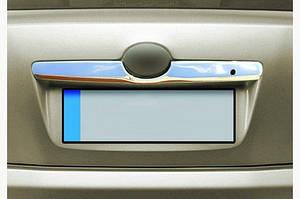 Накладка над номером (нерж) OmsaLine - Итальянская нержавейка - Toyota Camry 2007-2011 гг.