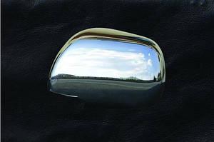 Накладки на зеркала (2 шт) Carmos - Турецкая сталь - Toyota Camry 2007-2011 гг.