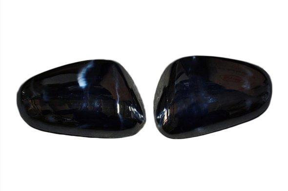Накладки на дзеркала (2000-2010, 2 шт, нерж) Carmos - Турецька сталь - Seat Leon 2005-2012 рр.