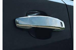 Накладки на ручки (2 шт, нерж) - Opel Tigra 2005↗ гг.