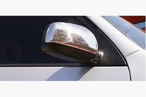 Накладка на зеркала (2 шт., нерж.) Carmos - Турецкая сталь - Chery Tiggo 2005-2013 гг.