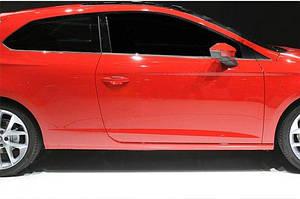 Молдинг боковых стекол (3 дверный, 6 шт, нерж) - Seat Leon 2013↗ гг.