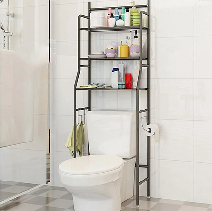 Стеллаж для хранения Напольный туалетный шкаф регулируемый по высоте TOILET RACK, фото 2