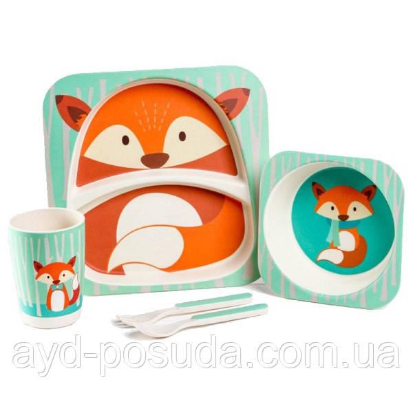 """Набір дитячого посуду з бамбука """"Лисиця"""" арт. 870-24373"""