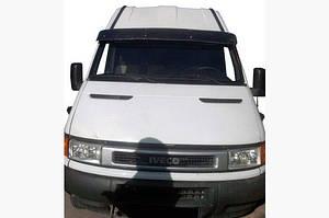 Козырек на лобовое стекло (черный глянец, 5мм) - Iveco Daily 1999-2006 гг.
