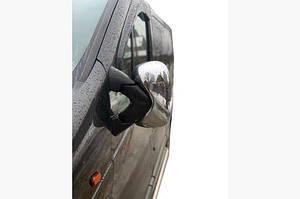 Накладки на зеркала (2 шт) Carmos - Турецкая сталь - Opel Vivaro 2001-2015 гг.