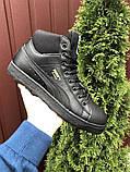 Мужские зимние кроссовки PUMA Suede черные, фото 4