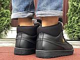 Мужские зимние кроссовки PUMA Suede черные, фото 2