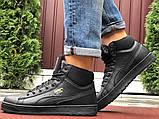 Мужские зимние кроссовки PUMA Suede черные, фото 5