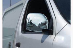 Накладки на зеркала (2 шт, нерж) - Toyota HiAce