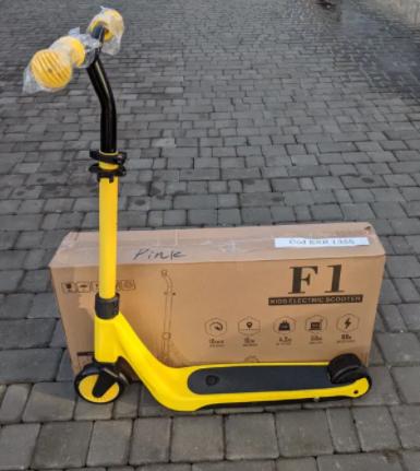 Детский Электросамокат F1 Желтый