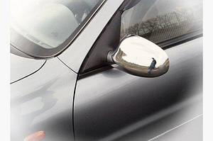 Накладки на зеркала (2 шт) Хромированный пластик - Daewoo Lanos