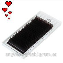 Platinum (Платинум) MIX М 0.10 (8-14) темный  шоколад ресницы для наращивания