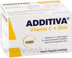 ADDITIVA Vitamin C + Zink 80 шт. Германия