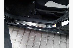 Накладки на пороги VIP (4 шт, нерж.) - Toyota Corolla 2013-2019 гг.