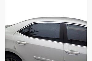Верхняя окантовка (4 шт, нерж) - Toyota Corolla 2013-2019 гг.