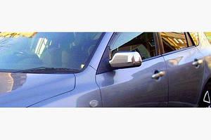 Накладка на зеркала (2 шт) Полированная нержавейка - Mazda 6 2003-2008 гг.