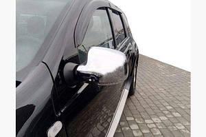 Накладки на зеркала (2 шт) OmsaLine - Итальянская нержавейка - Renault Logan MCV 2008-2013 гг.