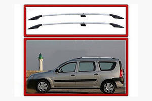 Рейлинги Хром Пластиковые ножки - Renault Logan MCV 2008-2013 гг.