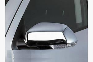 Накладки на зеркала (2 шт, нерж) Carmos - Турецкая сталь - Skoda Octavia A5 2006-2010 гг.