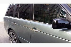 Окантовка стекол (6 шт, нерж.) - Range Rover Sport 2005-2013 гг.