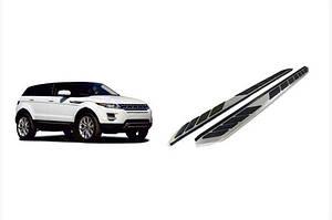 Боковые пороги OEM-V1 (2 шт., алюминий) - Range Rover Evoque 2012↗ гг.