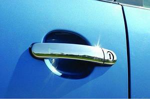 Накладки на ручки (4 шт, нерж) OmsaLine - Итальянская нержавейка - Skoda Octavia A5 2010↗ гг.