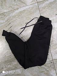 Черные однотонные спортивные штаны с начесом  для мальчика девочки  подростка