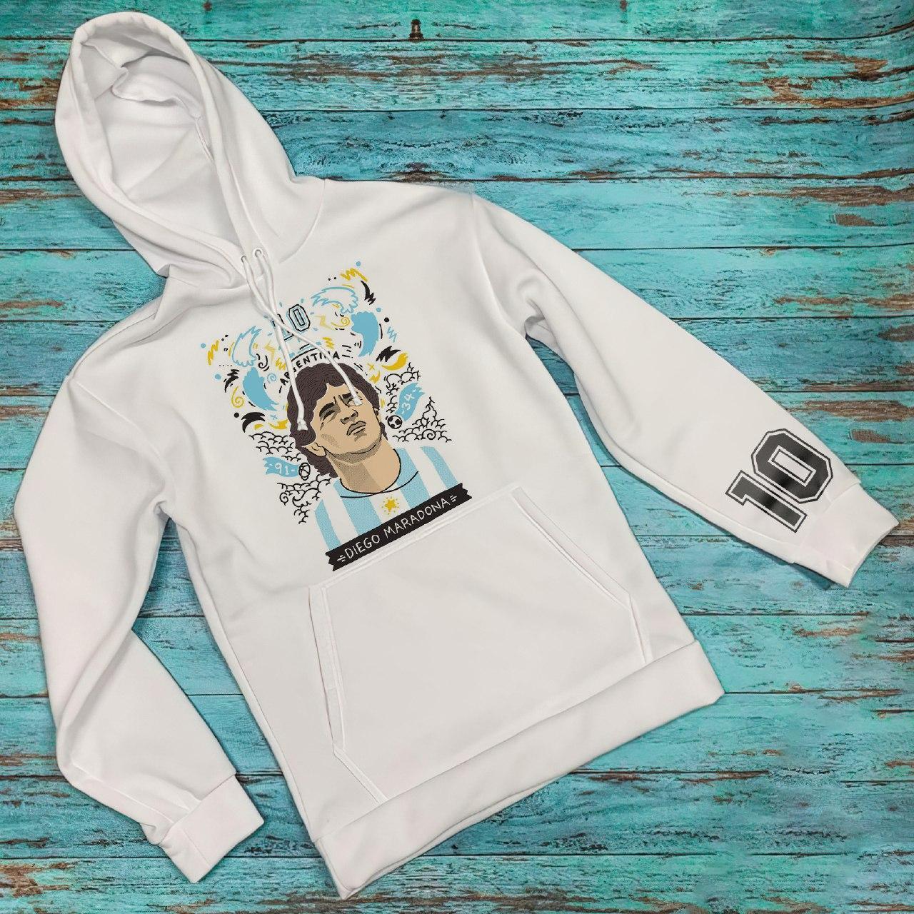 Худи Diego Maradona мерч толстовка белая