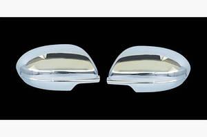 Накладки на зеркала (2 шт) Полированная нержавейка - Mazda 3 2009-2013 гг.