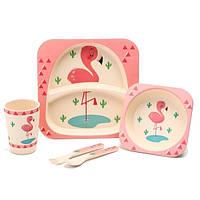 """Набор детской посуды из бамбука """"Фламинго"""" арт. 870-24379"""