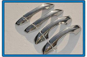 Накладки на ручки (4 шт, нерж) OmsaLine - Итальянская нержавейка - Skoda Octavia A7 2013↗ гг.