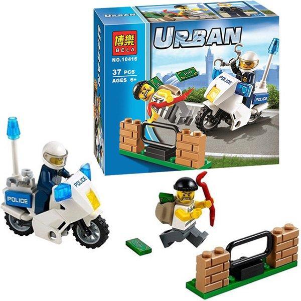 """Конструктор """"Погоня за вором"""" Bela Urban 10416 (аналог Lego City 60041), 37 дет."""