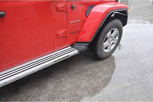 Боковые подножки (2 шт) - Jeep Wrangler 2007-2017 гг.