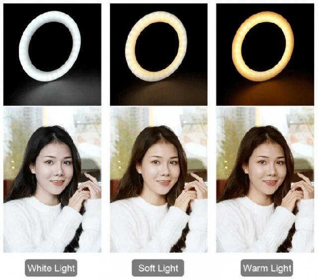 Селфи Лампа кольцо на штативе LED RING с Держателем для Телефона 1 м D=26 см Ring Fill Light