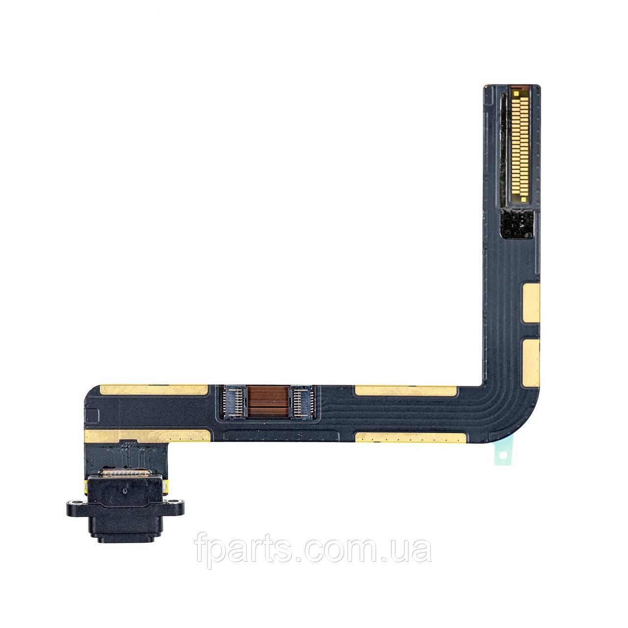 "Шлейф iPad 7 (10.2"" / 2019) (A2197, A2198, A2200) коннектор зарядки, Black"