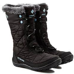 Апрески снегоходы сапоги COLUMBIA чорные женские подростковые ДЕТСКИЕ