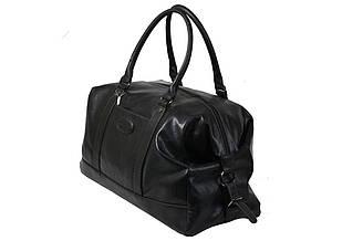 Мужская дорожная сумка из качественного кож-зама черного цвета.