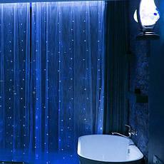 Светодиодная гирлянда LTL штора занавес curtain 3x3 метра 300 led 220v Синий, фото 3