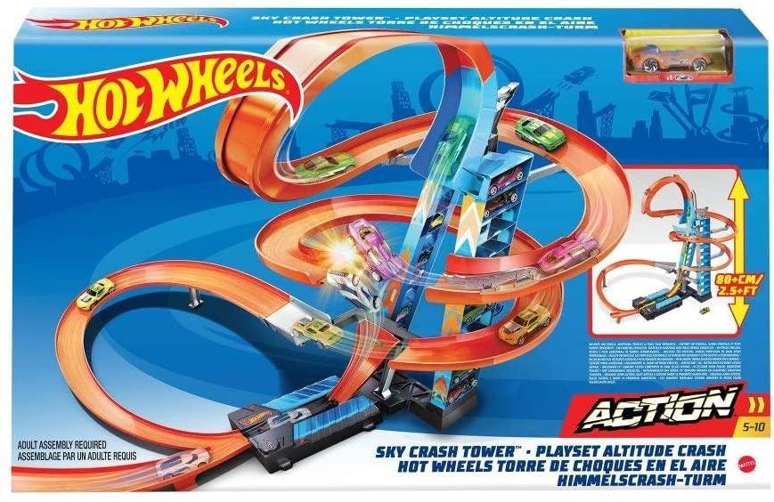 Хот Вилс Небоскрёб Падение с башни Hot Wheels Sky Crash Tower Track Set GJM76