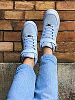 Кроссовки Nike Air Force High White белые, фото 1