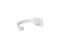 Держатель желоба Profil Д=90мм металл короткий, цвет белый