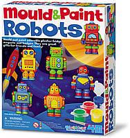 Набор для творчества Магниты из гипса Роботы 4M 00-04653, фото 1