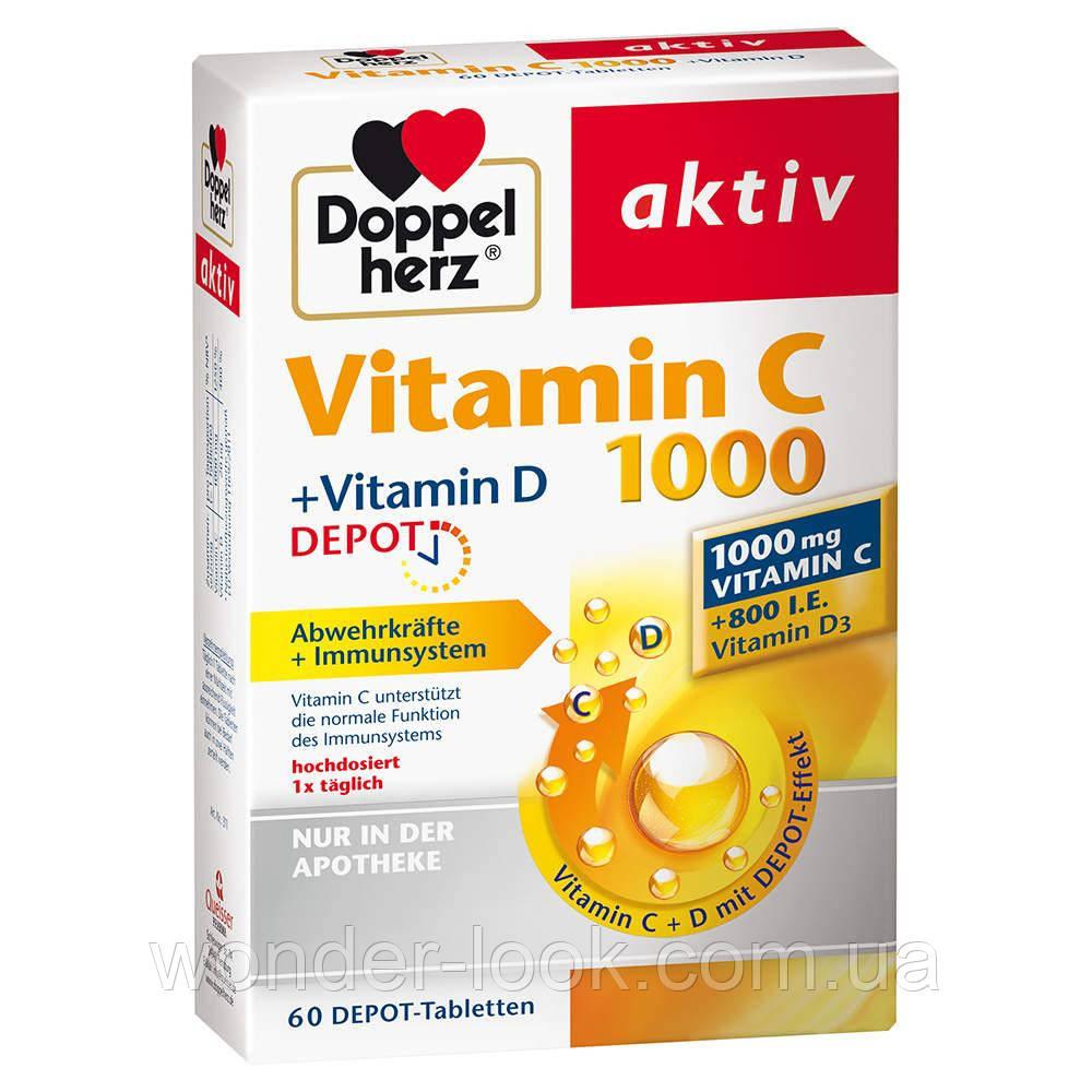 Вітамін С+Д3 60 шт Німеччина