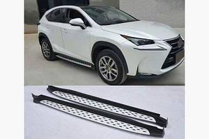 Боковые подножки Оригинал V1 (2 шт) - Lexus NX