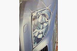 Накладки на фары (2 шт, пласт) - Lexus LS 2001-2006 гг.