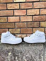 Кроссовки белые Nike Air Force High White, фото 1