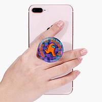 Попсокет (Popsockets) держатель для смартфона Амонг Ас Оранжевый (Among Us Orange)  (8754-2408), фото 1