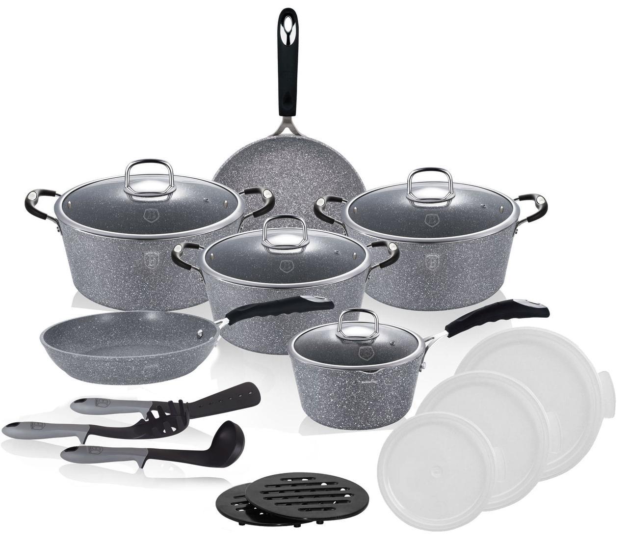 Набор посуды 18 предметов Berlinger Haus Stone Touch Line BH 6196
